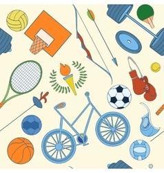 Seamless sport pattern vector image