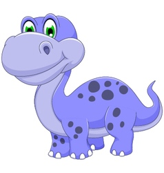 cute dinosaur cartoon smiling vector image