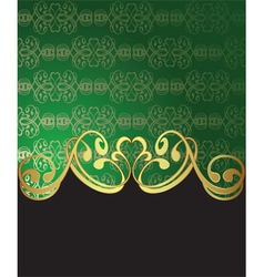 Golden vintage card vector image vector image