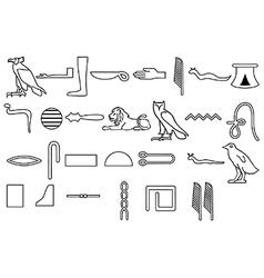 Hieroglyphics vector image vector image