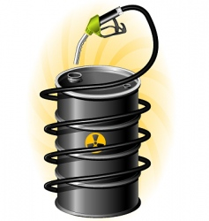oil drum and fuel pump vector image vector image