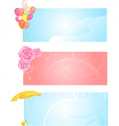banners with three different design vector image vector image