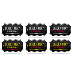 black friday is coming holiday of black friday vector image