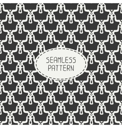 Geometric monochrome hipster line seamless pattern vector image