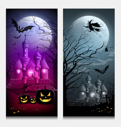 happy halloween collections banner vector image vector image
