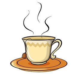 Not my cup of tea idiom vector image