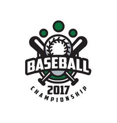 baseball championship 2017 logo template design vector image