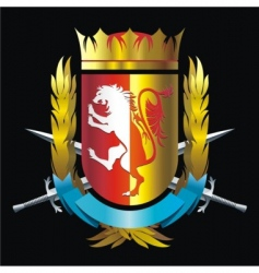 crest with lion vector image vector image