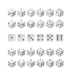 isometric 3d dice combination game cubes vector image vector image