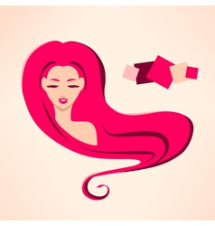Portrait of young sexy girl with rose hair vector image vector image