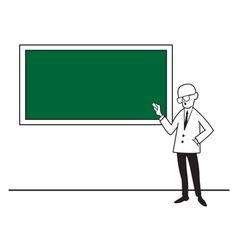 A teacher at the school board vector