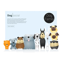 Animal banner with dogs for web design 9 vector image