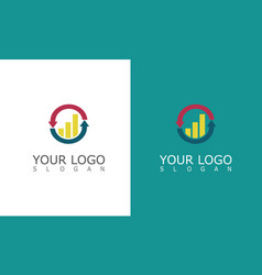 arrow change trade business logo vector image