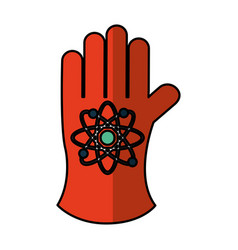 atomic glove isolated icon vector image