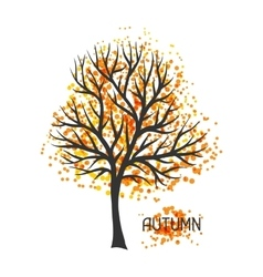 background with autumn tree vector image
