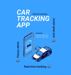 banner car tracker app for smartphone vector image