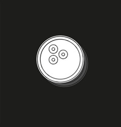 bowling icon bowling ball - bowling game sport vector image