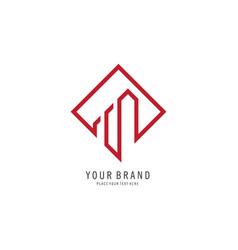 building symbol logo vector image