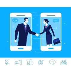 Business concept Handshake vector