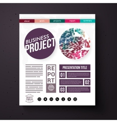 Business project report presentation layout vector
