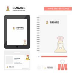 Chef business logo tab app diary pvc employee vector