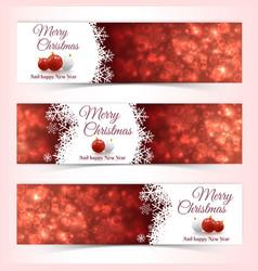 christmas balls banners vector image