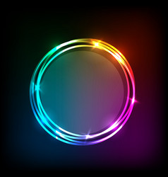 Circles banner on colorful abstract background vector