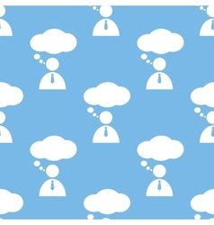 Conversation seamless pattern vector image