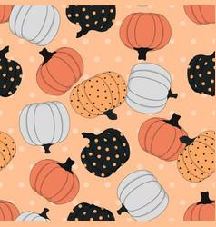 Cute background pumpkin vector
