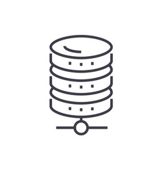 database network line icon sign vector image