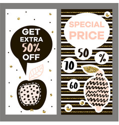 Discont flyer template in modern style two vector