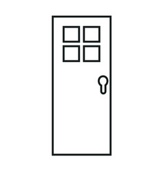 Door isolated image vector