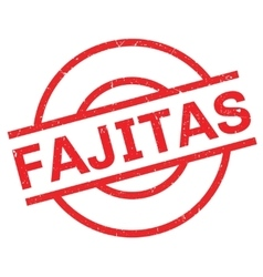 Fajitas rubber stamp vector image