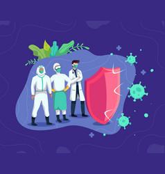 fight covid-19 corona virus concept vector image