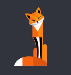 Flirty fox vector
