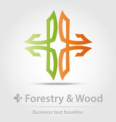 Forestry and wood business icon vector