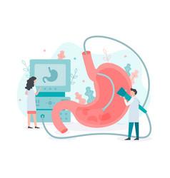 Gastroscopy stomach medical concept vector