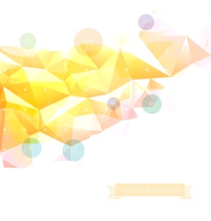 Geometric low poly background infographics vector