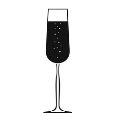 Glass of champagne icon simple style vector