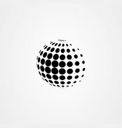 globe icon logo design vector image