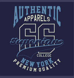 graphic authentic apparels superior vector image