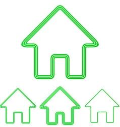 Green real estate logo design set vector