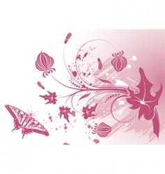 grunge flower background vector image