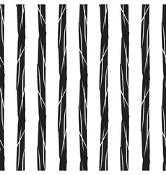 Grunge stripes seamless pattern black vertical vector image