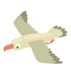 Gull icon cartoon style vector