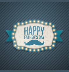 happy fathers day festive background template vector image