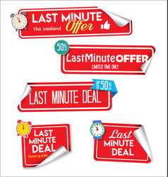 Last minute offer colorful stickers 13 vector