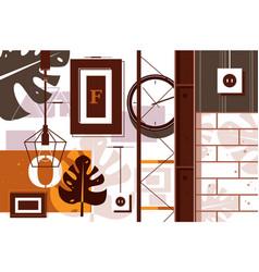 loft in interior design vector image