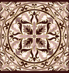 luxury pink marble mosaic classic seamless pattern vector image