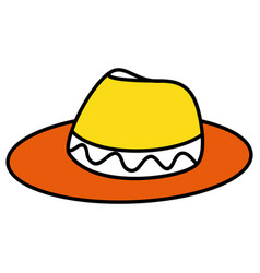 Male tourist hat icon vector
